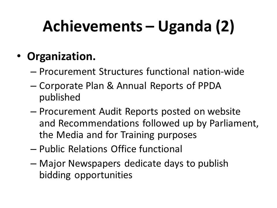Achievements – Uganda (2)
