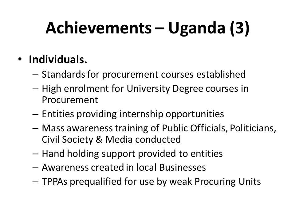 Achievements – Uganda (3)