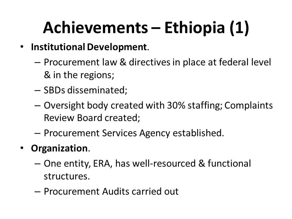 Achievements – Ethiopia (1)