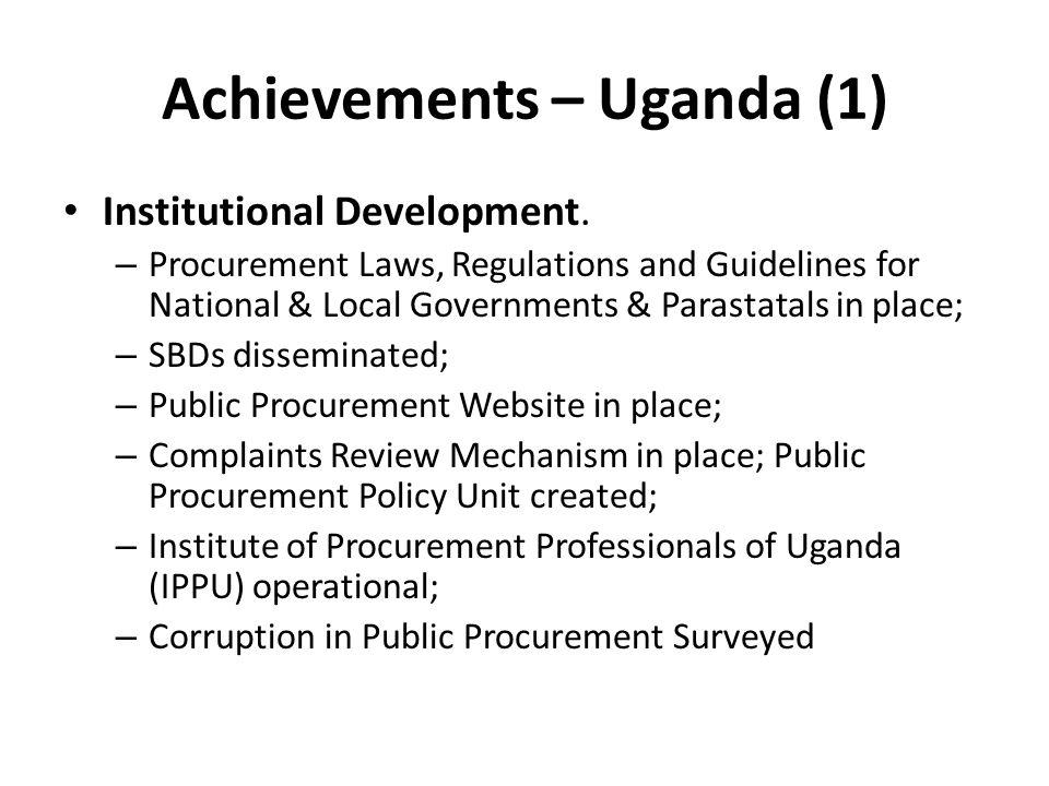 Achievements – Uganda (1)