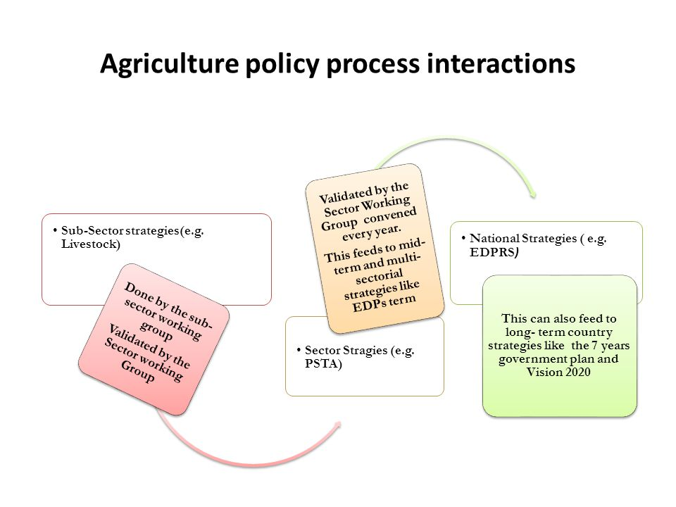Agriculture policy process interactions