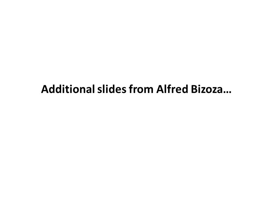 Additional slides from Alfred Bizoza…