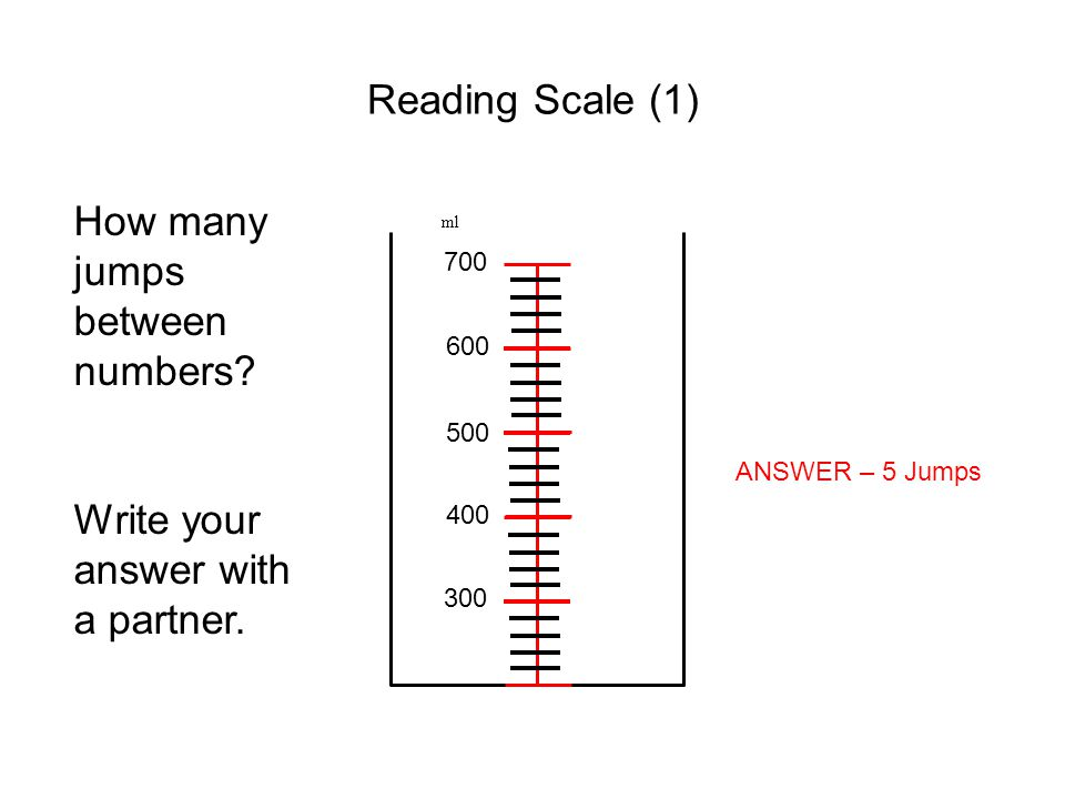 How many jumps between numbers