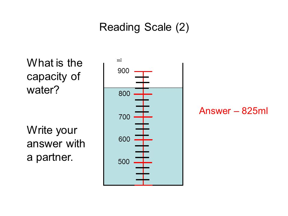 What is the capacity of water