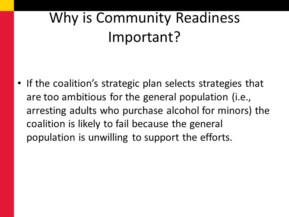 Why is Community Readiness Important