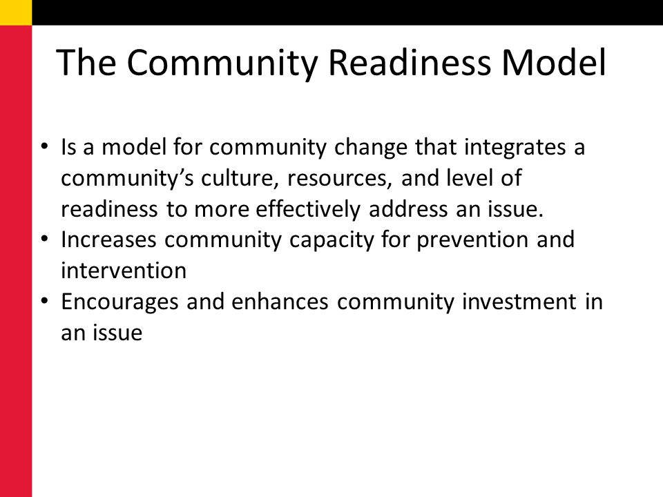 The Community Readiness Model