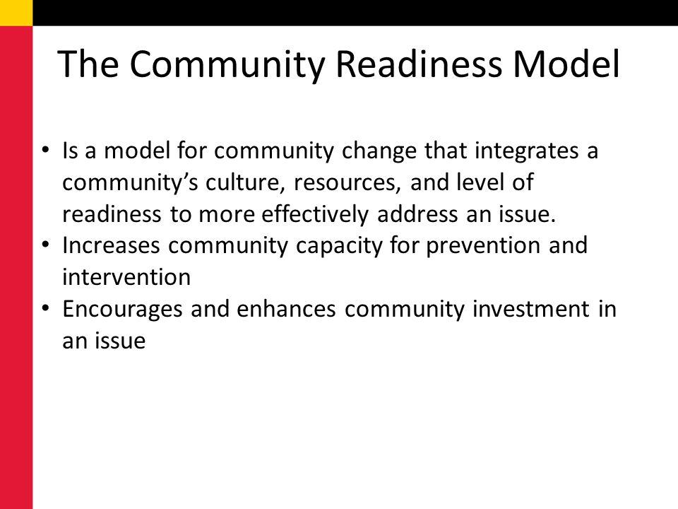 The Community Readiness Model
