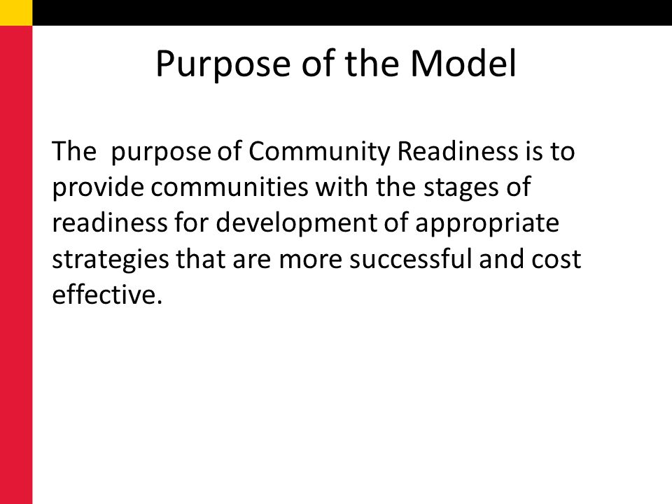 Purpose of the Model