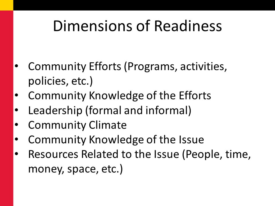 Dimensions of Readiness