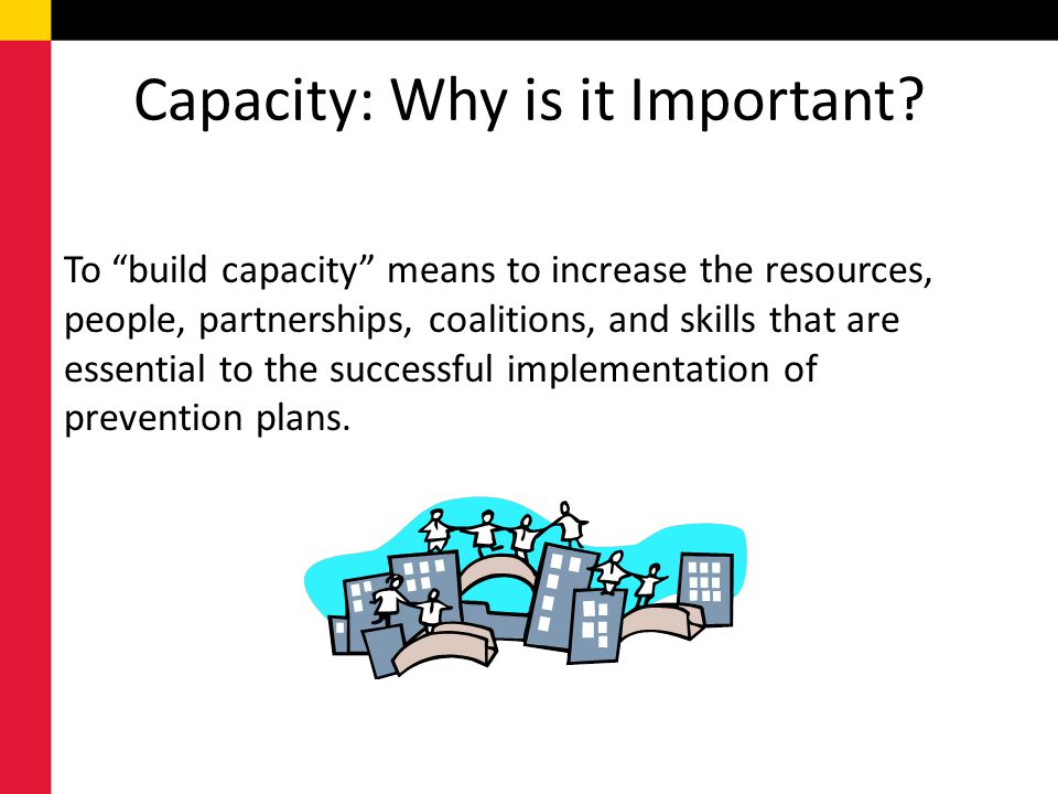 Capacity: Why is it Important