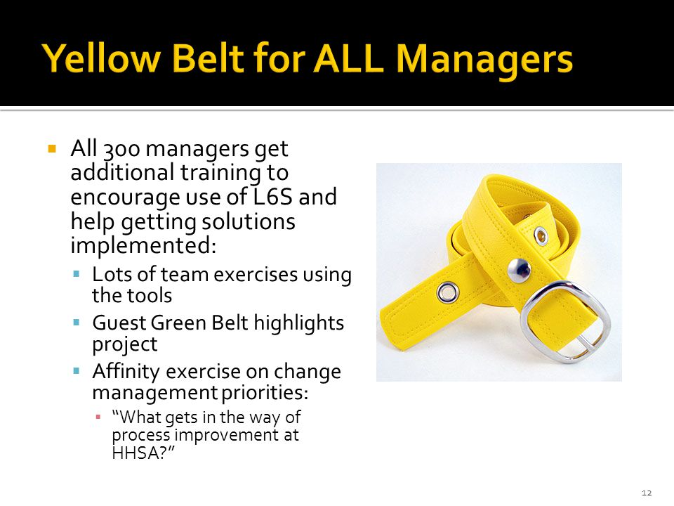 Yellow Belt for ALL Managers