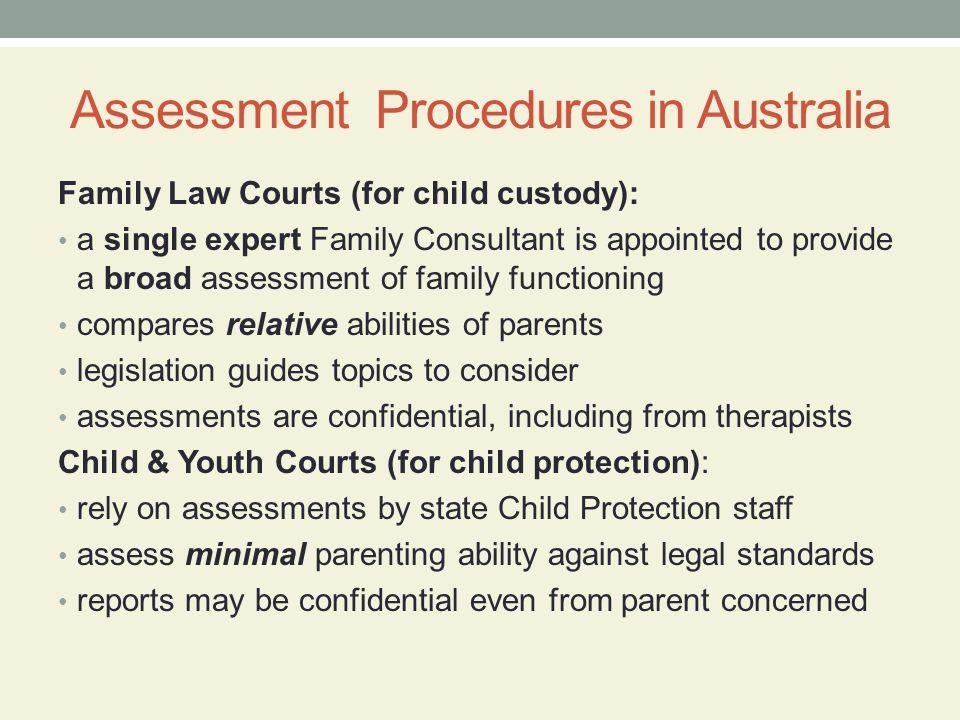 Assessment Procedures in Australia