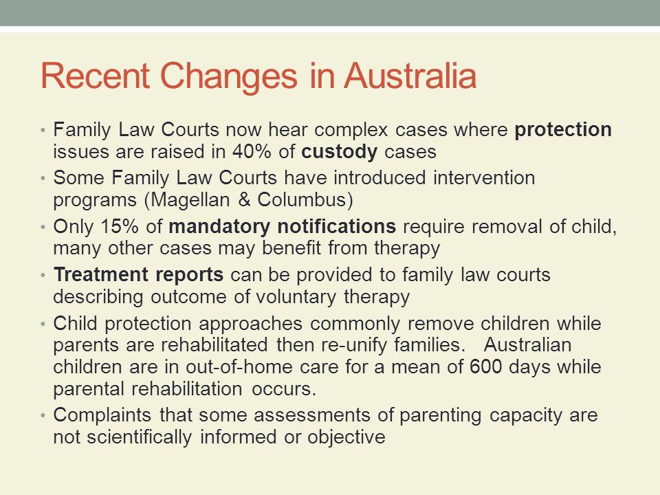 Recent Changes in Australia