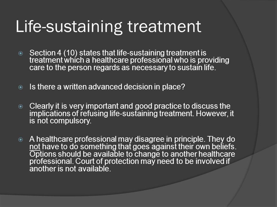 Life-sustaining treatment