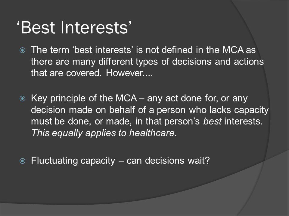 'Best Interests'