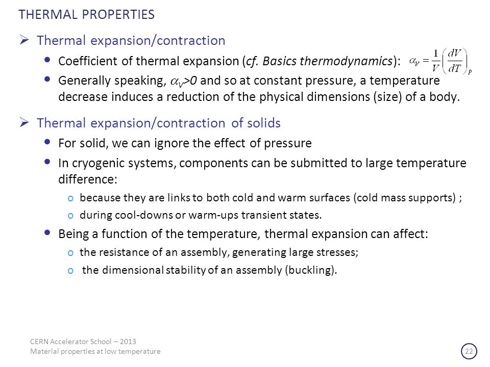 Thermal expansion/contraction