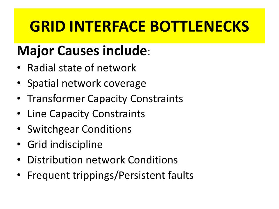 GRID INTERFACE BOTTLENECKS