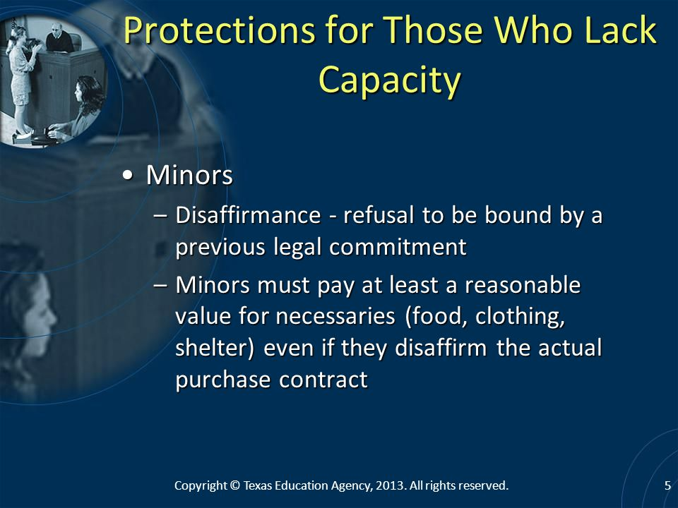 Protections for Those Who Lack Capacity