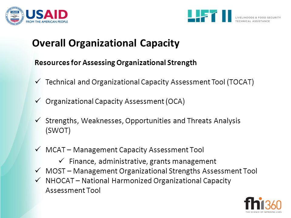 Overall Organizational Capacity