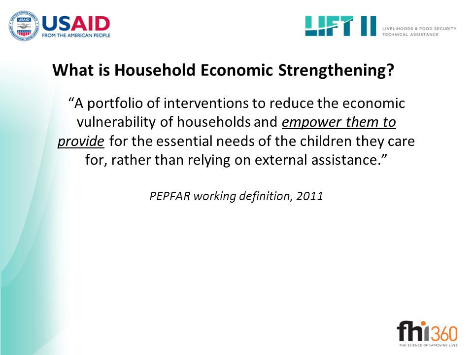 What is Household Economic Strengthening