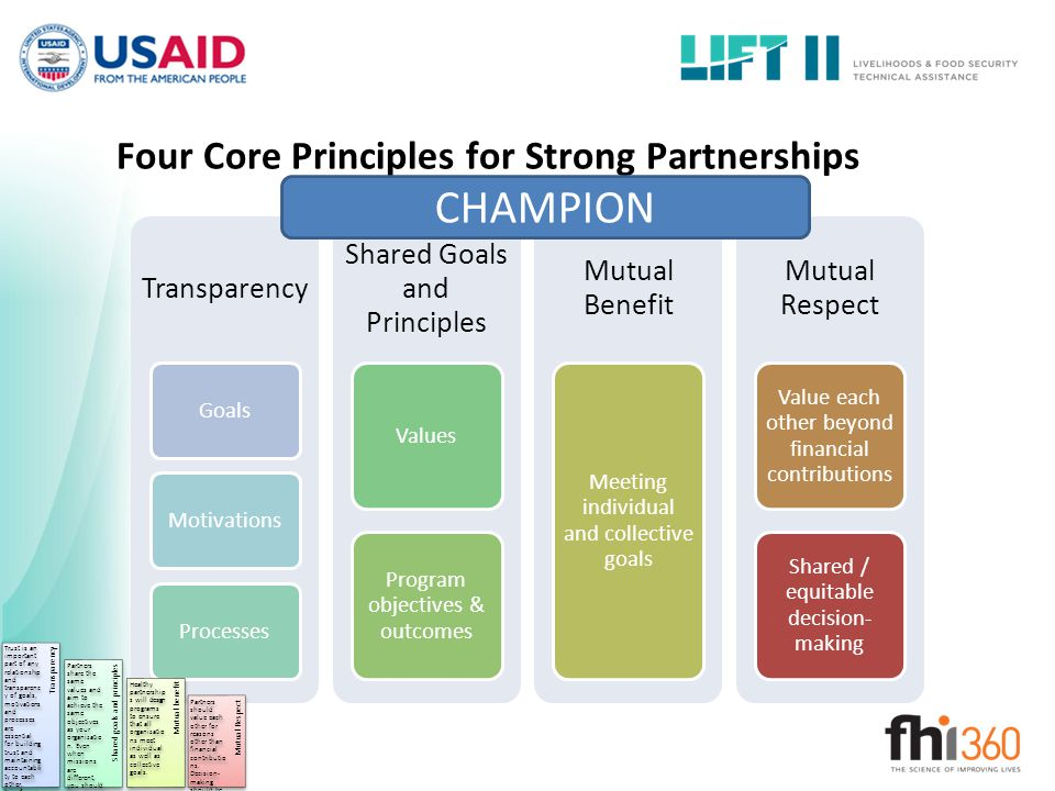 Four Core Principles for Strong Partnerships