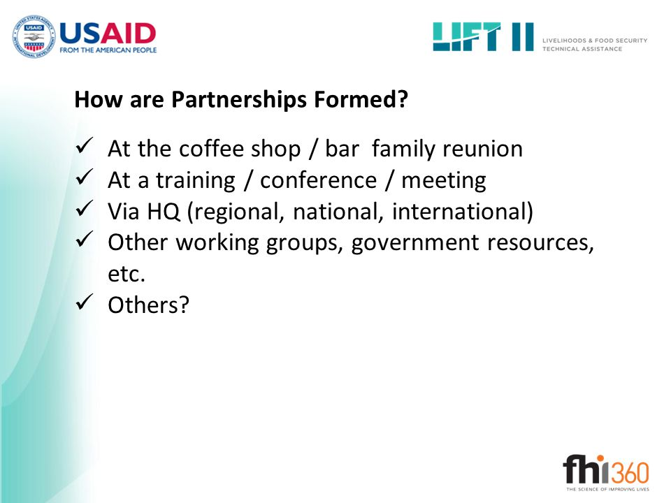 How are Partnerships Formed