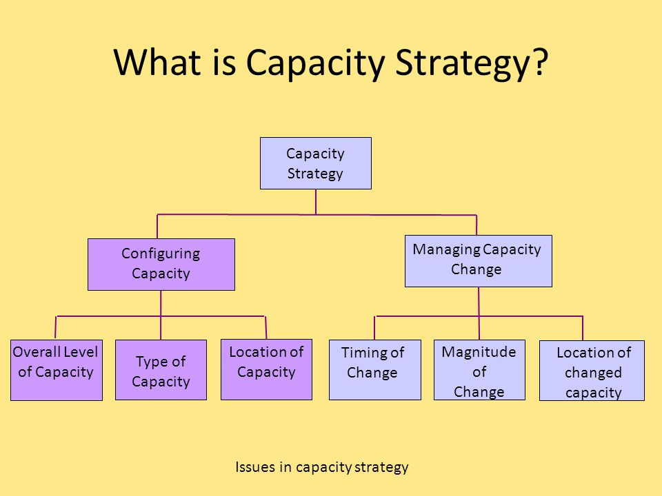 What is Capacity Strategy