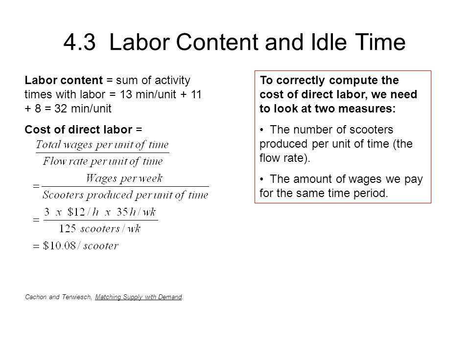 4.3 Labor Content and Idle Time