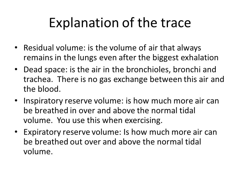 Explanation of the trace