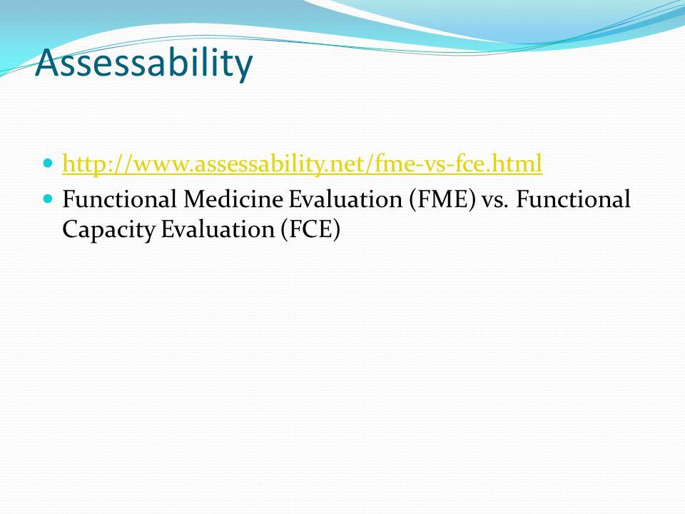 Assessability http://www.assessability.net/fme-vs-fce.html