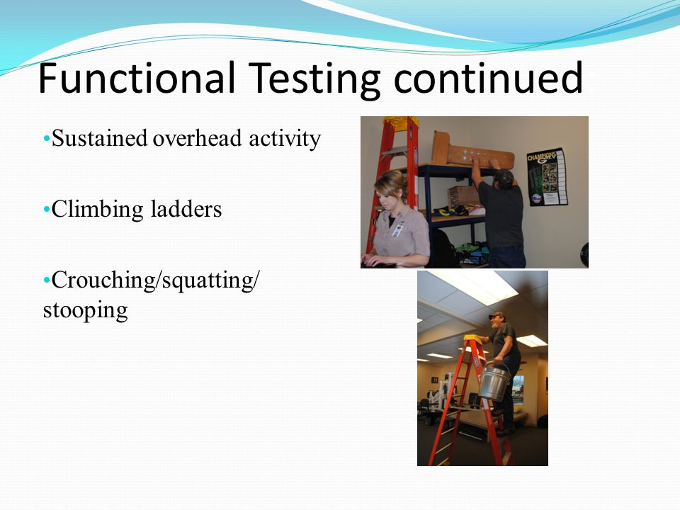 Functional Testing continued: