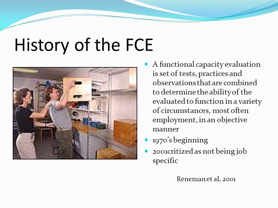 History of the FCE