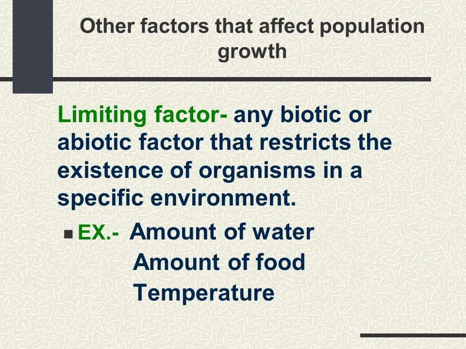 What factors affect human population growth?
