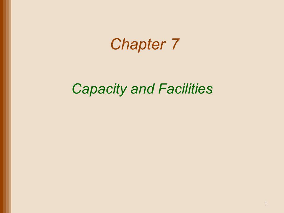 Capacity and Facilities