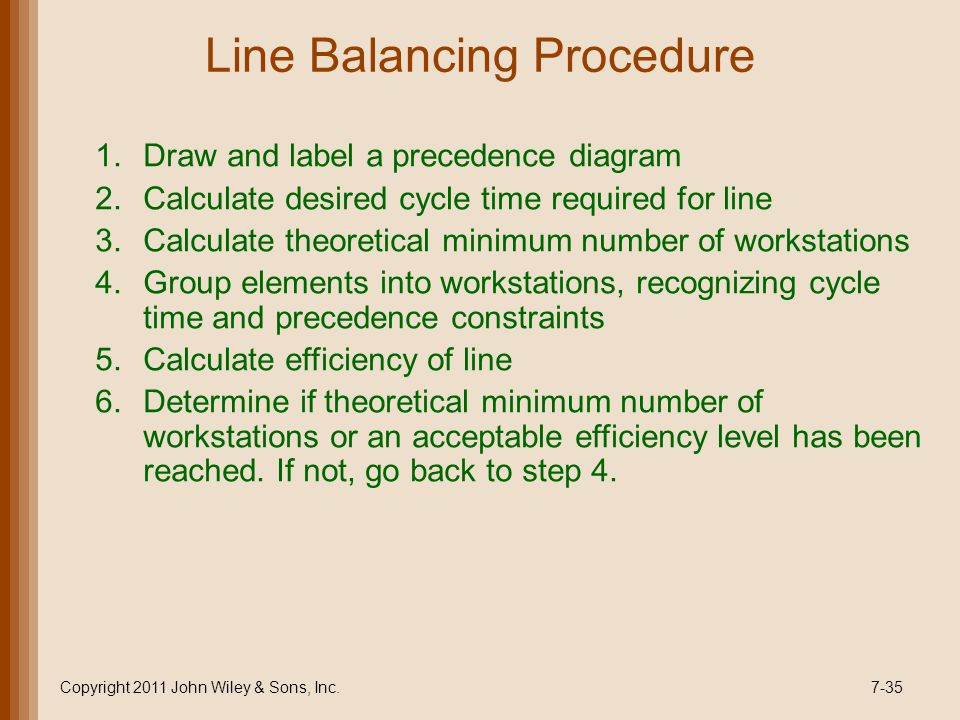 Capacity and facilities ppt video online download 35 line balancing procedure draw and label a precedence diagram ccuart Choice Image