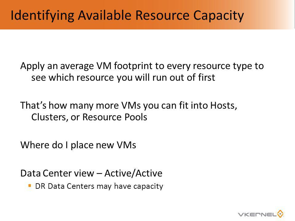 Identifying Available Resource Capacity