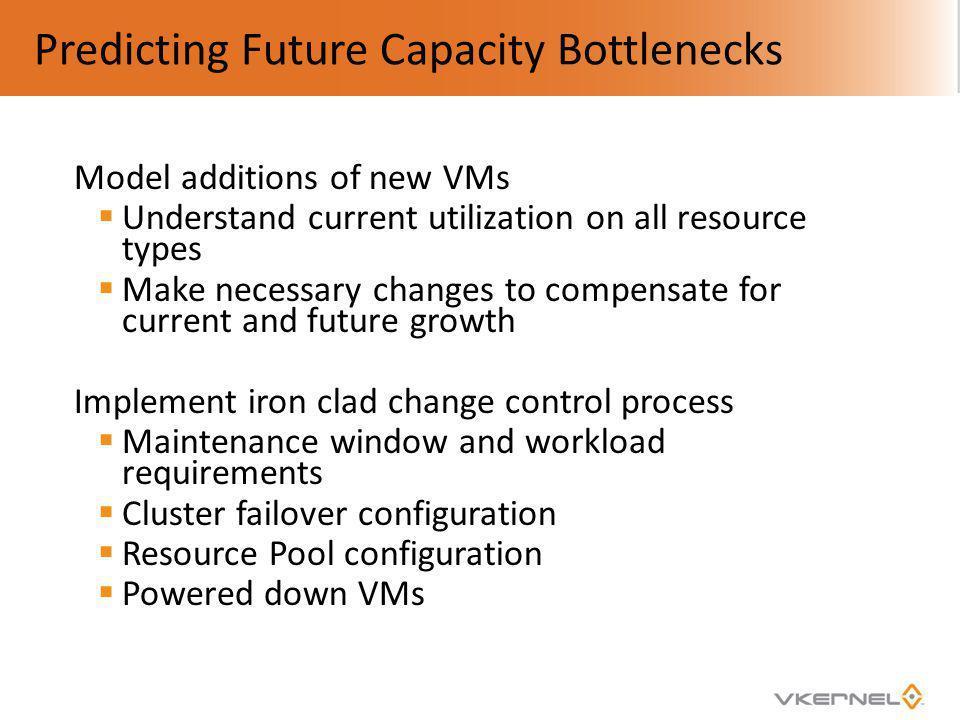 Predicting Future Capacity Bottlenecks