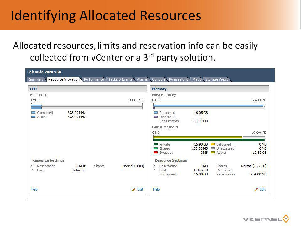 Identifying Allocated Resources