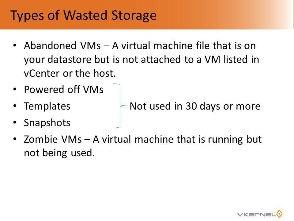 Types of Wasted Storage