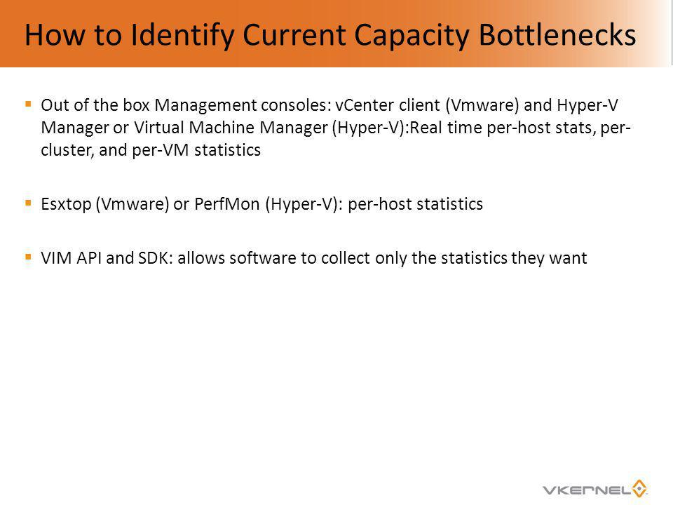 How to Identify Current Capacity Bottlenecks