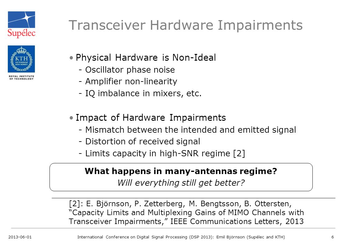 Transceiver Hardware Impairments