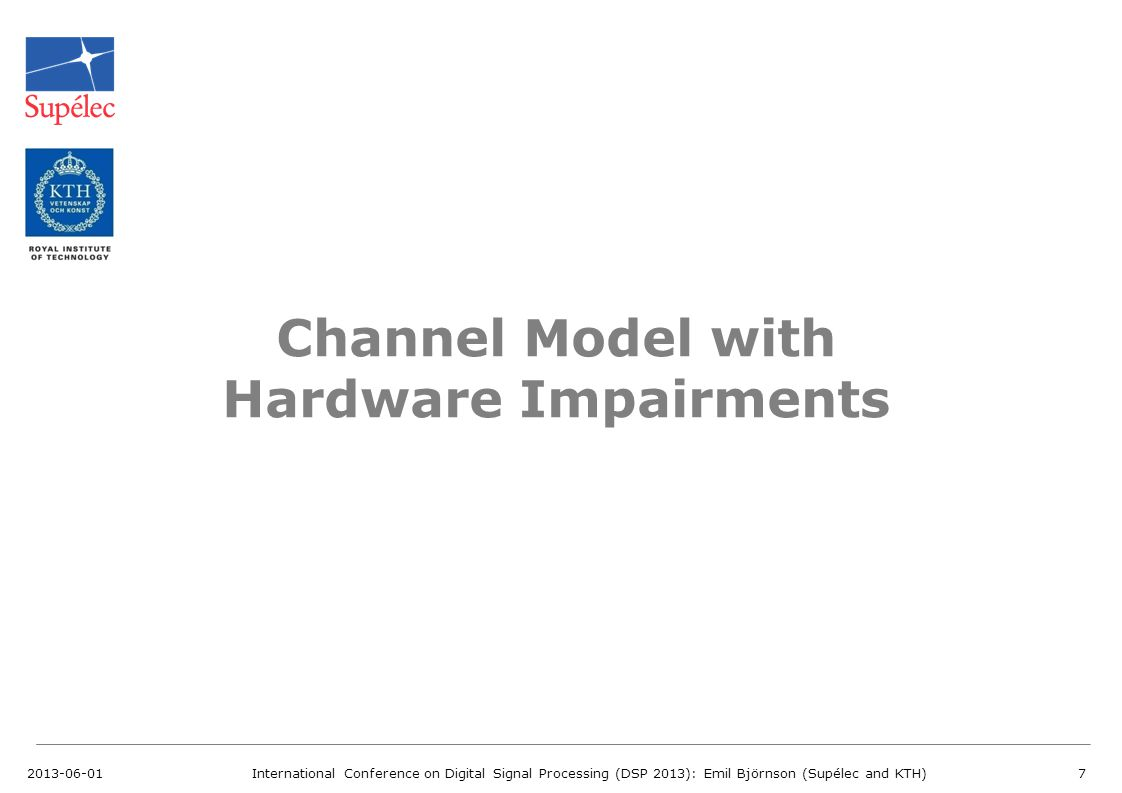 Channel Model with Hardware Impairments