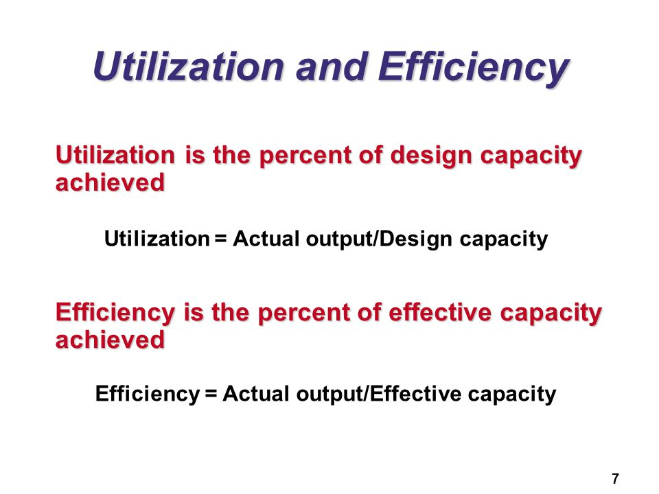 Utilization and Efficiency