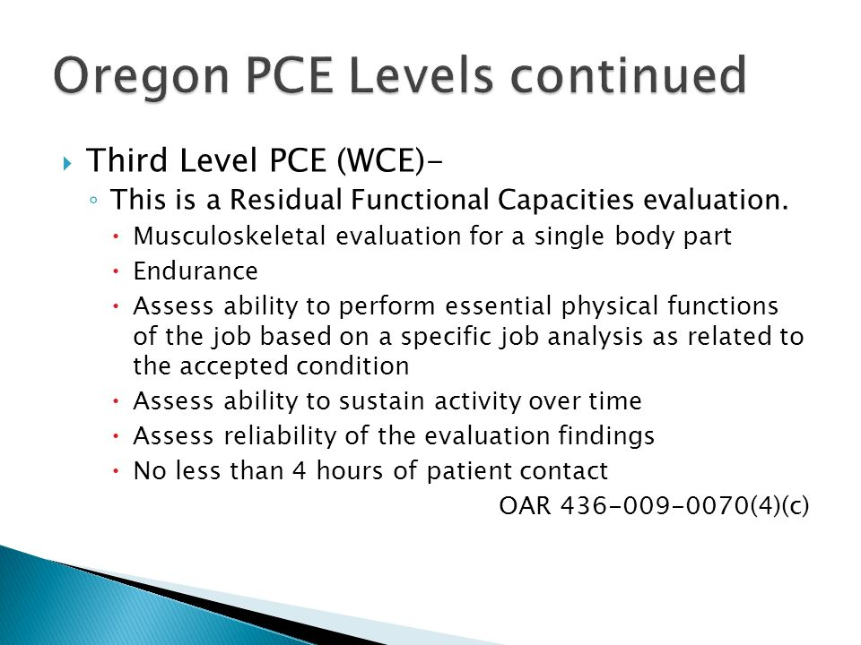 Oregon PCE Levels continued