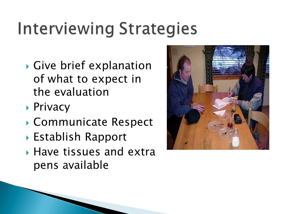 Interviewing Strategies