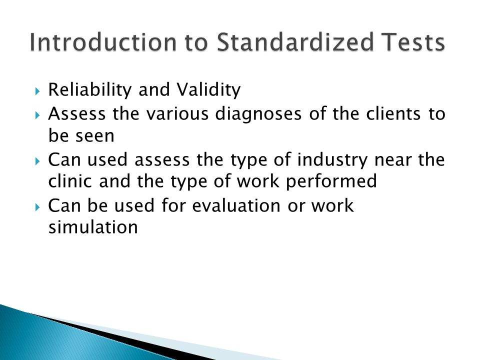 Introduction to Standardized Tests