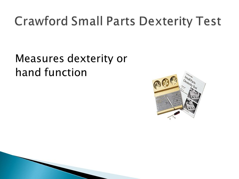 Crawford Small Parts Dexterity Test