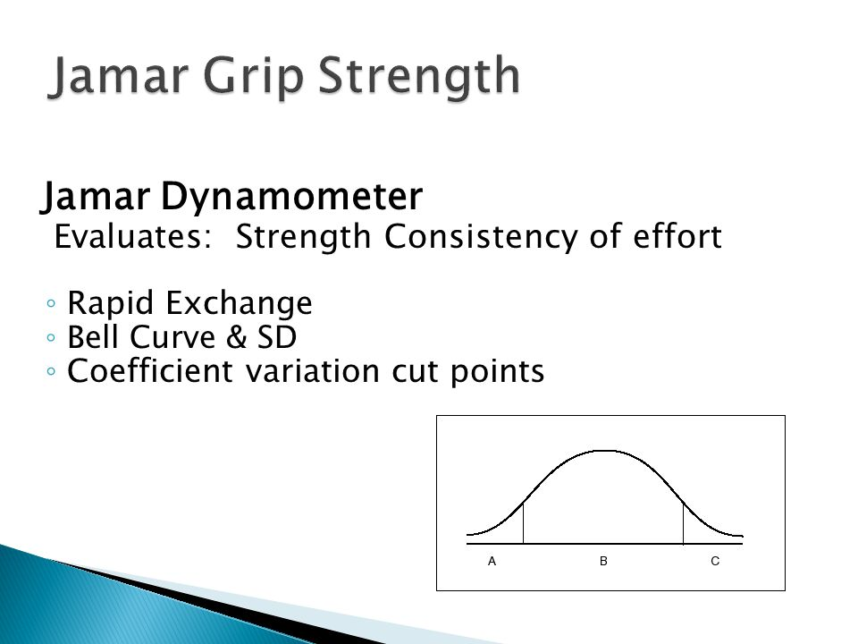 Jamar Grip Strength Evaluates: Strength Consistency of effort