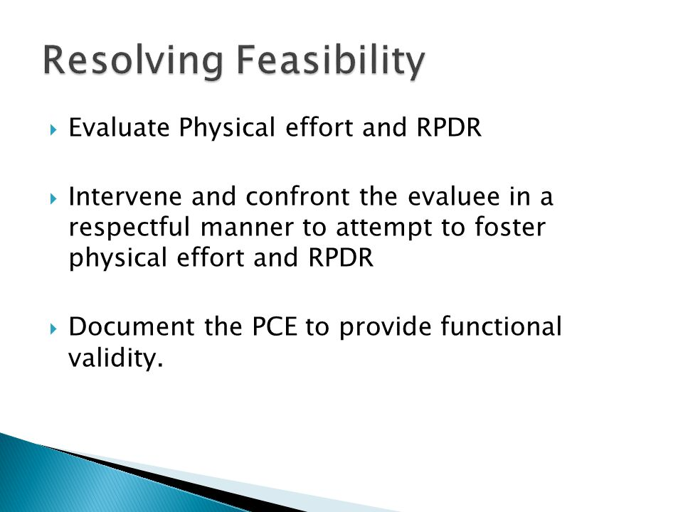 Resolving Feasibility