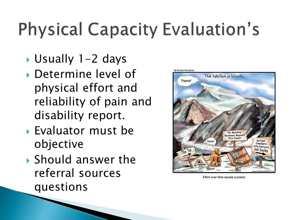 Physical Capacity Evaluation's